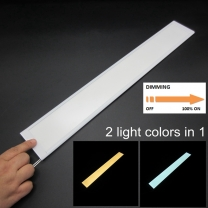 Touch sensor dual color kitchen cabinet lighting