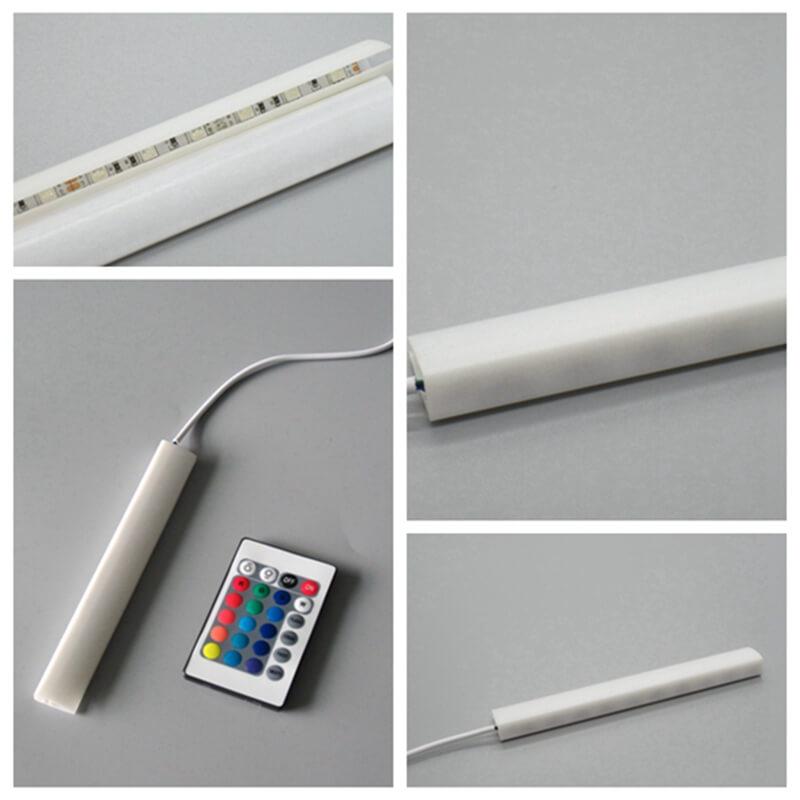12V led glass shelf clip light aluminum glass shelf support SMD 3528