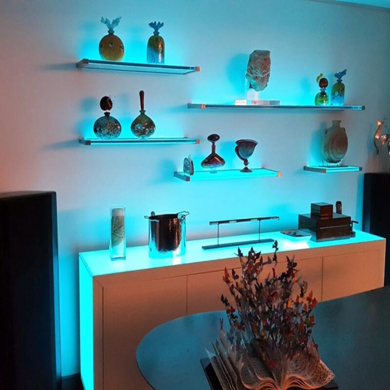 12V Aluminum Shelves Housing Display Led Bookshelf Lighting