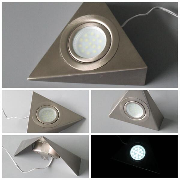 12~24V triangle led cabinet kitchen spot lights for furniture