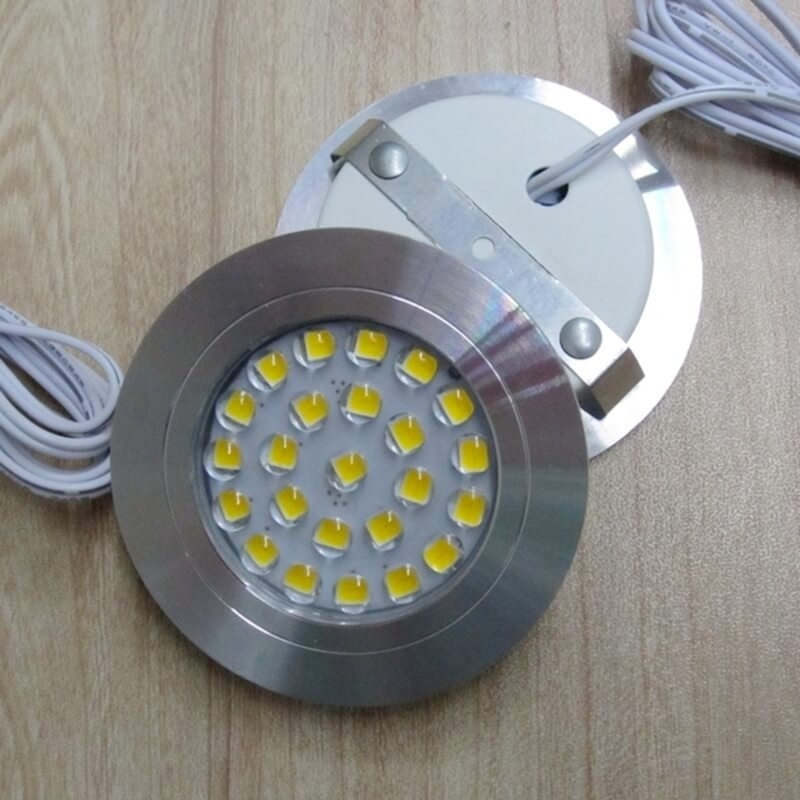 Wall Mounted Or Recessed 12v led puck lights
