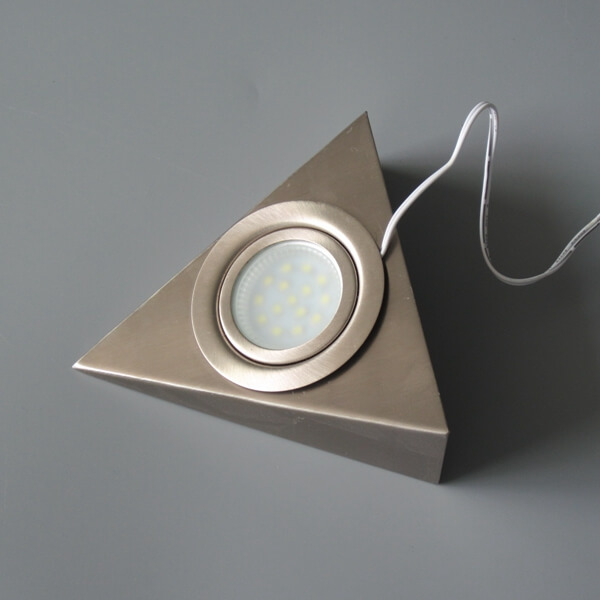 Wall mounting triangle 12V under counter puck lights