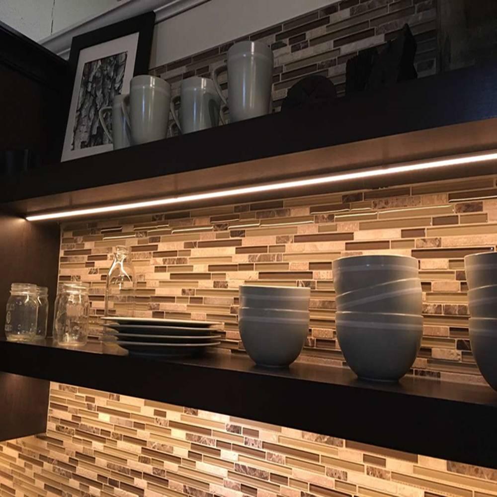 What benifit of cabinet interior lighting?
