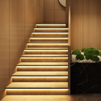 Aluminum Recessed Step Light Indoor Outdoor Pir Motion Automotic Lighting Led Stair Light