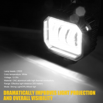 12v-30v 30W Waterproof Motorbikes Light Accessories LED Truck Spot Lights Led Lights for Motorcycle