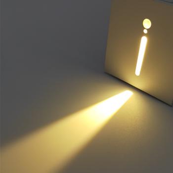 3W PIR Sensor Corridor Corner Smart Lamp Recessed Steps Lights Ladder Stairway Night Light